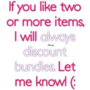 Bundles ALWAYS save more!!!!